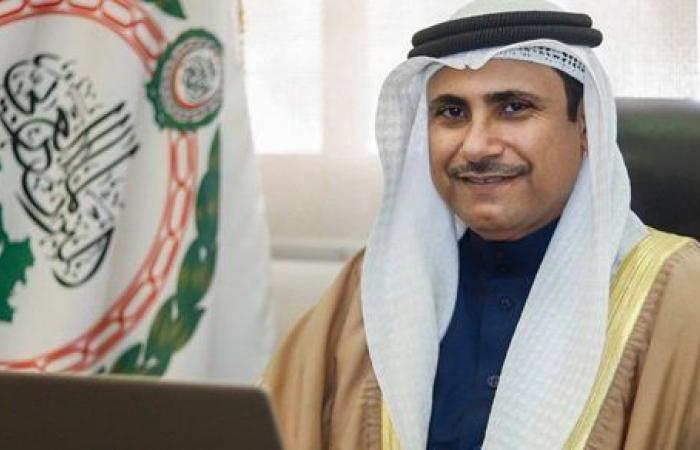 رئيس البرلمان العربي يطلع قيادات البرلمانات الدولية على خططه المستقبلية