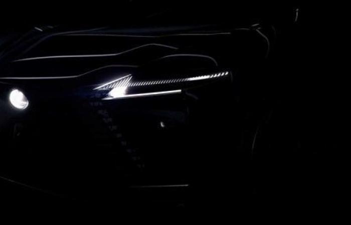 لكزس LEXUS تطرح صورا تشويقية لسيارتها الكهربائية الجديدة كليا