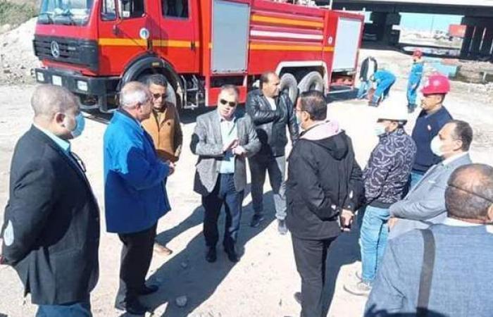 الحماية المدنية بالإسكندرية تُسيطر على حريق أسفل كوبري مرغم