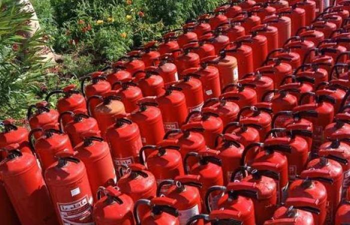 مياه أسيوط: تعبئة وصيانة 135 طفاية حريق بالورشة لبني سويف