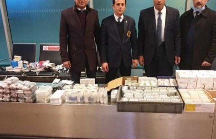 جمارك مطار القاهرة تضبط محاولتي تهريب كمية من الأدوية البشرية