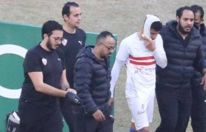 أشعة على وجه محمد عبد الغنى لتحديد حجم إصابته أمام غزل المحلة