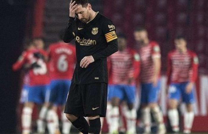 الشوط الأول.. غرناطة يتقدم على برشلونة بهدف في كأس ملك إسبانيا