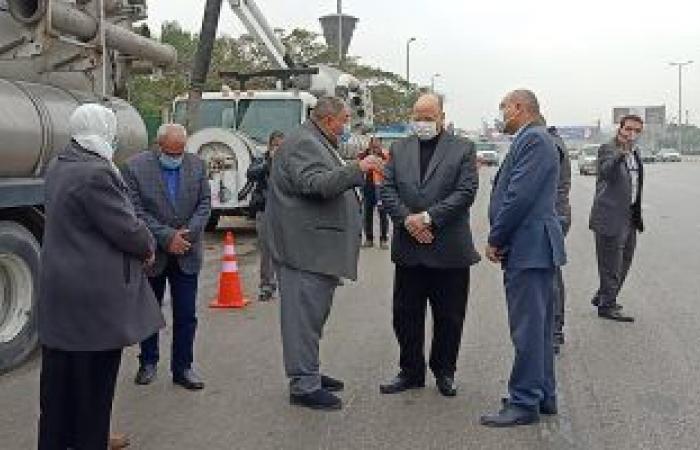 محافظ القاهرة يتفقد الاستعدادات للأمطار الغزيرة المرتقبة.. صور