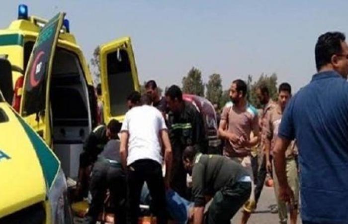 إصابة 4 أشخاص في حادث تصادم بالشرقية