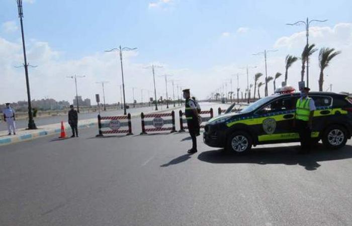 غلق طريق فيران حتى أبورديس بسبب السيول