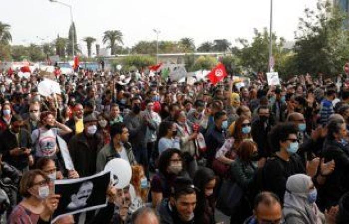مسيرات واستنفار أمنى فى تونس فى الذكرى الثامنة لاستشهاد شكرى بلعيد