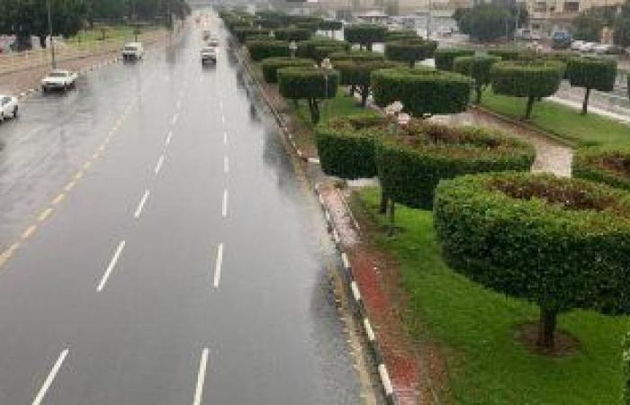 أمطار تضرب محافظة جدة السعودية