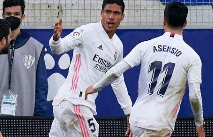 بهدفي فاران.. ريال مدريد يحقق فوزا صعبا على هويسكا ويرتقى لوصافة الليجا