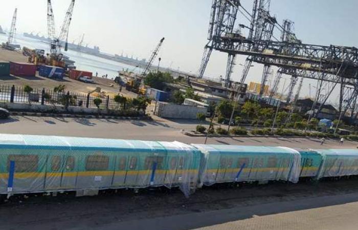 مترو الأنفاق يتسلم القطار المكيف السادس ضمن صفقة 32 قطارا