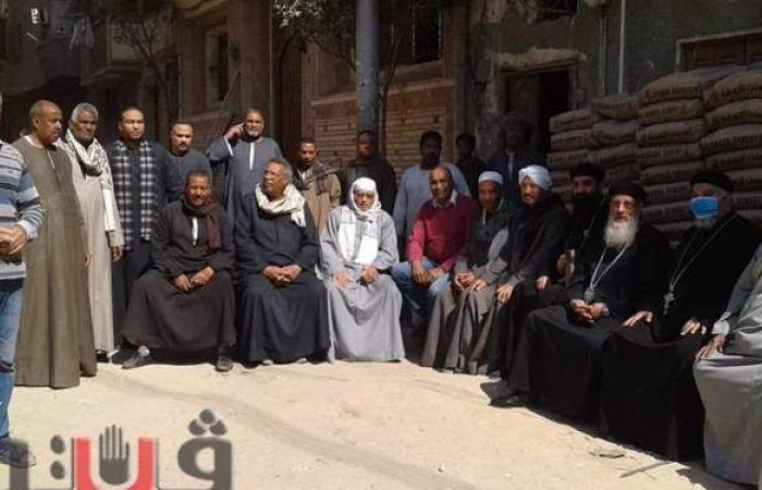 كهنة كنيسة مارجرجس يتبرعون لبناء مسجد في دشنا