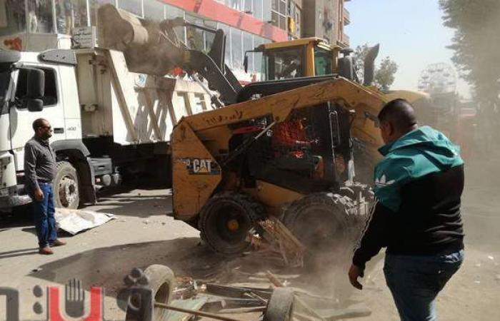 حملة مكبرة لإزالة إشغالات الباعة الجائلين من شوارع عين شمس | فيديو