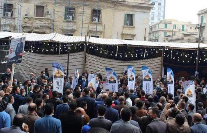 مشادات كلامية بين أنصار المرشحين على مقعد نقيب المحامين بالإسكندرية