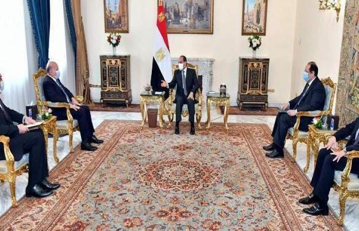 شاهد.. السيسي يستقبل وزير خارجية العراق ويتسلم رسالة من برهم صالح