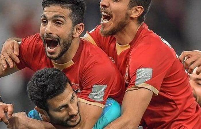 محمد شريف يحتفل ببرونزية كأس العالم للأندية