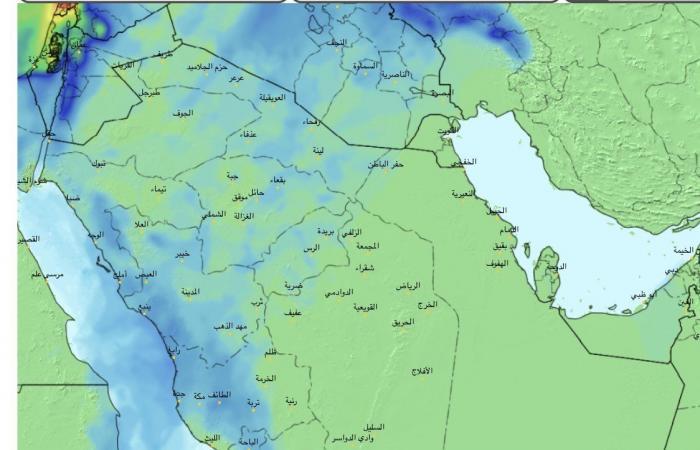 منخفض جوي عملاق يعبر السعودية الأسبوع المقبل