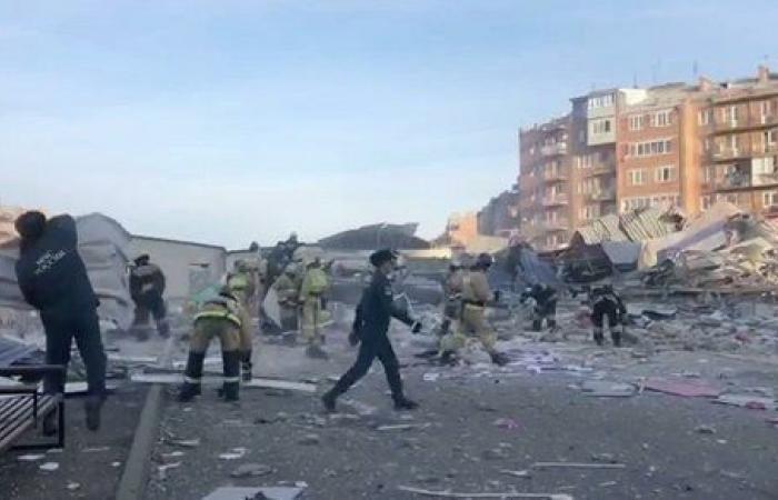 شاهد.. انفجار ضخم يهز مدينة روسية