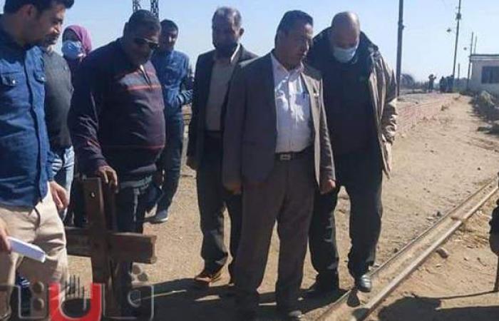 تطوير مزلقان قرية ميت ردين بأبوحماد في الشرقية