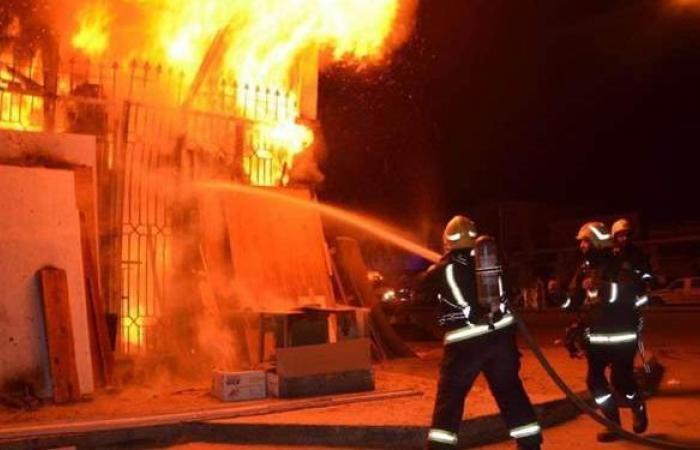 مصرع مسنة في حريق داخل فيلا بالهرم