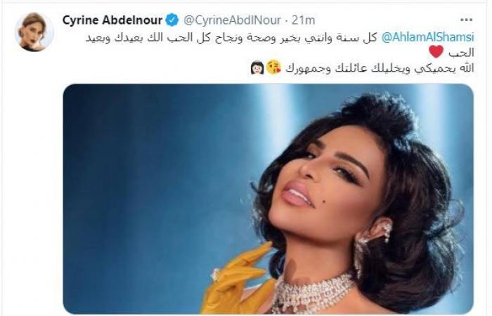 "نجمات لبنان تهنئن أحلام بعيد ميلادها:""دوام التألق يا ملكة"""