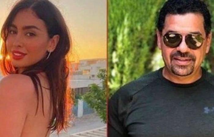 شاهد.. حبيبة طارق العريان ترافقه في دبي من أجل عمرو دياب