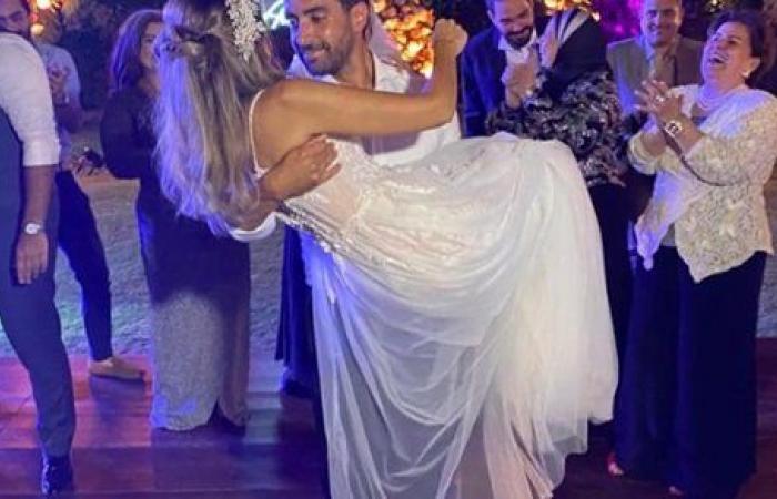 هند عبد الحليم تحتفل مع زوجها بعيد الحب