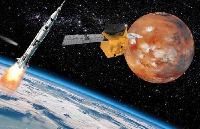 شاهد.. أول صورة لـ المريخ بعدسة مسبار الأمل الإماراتي