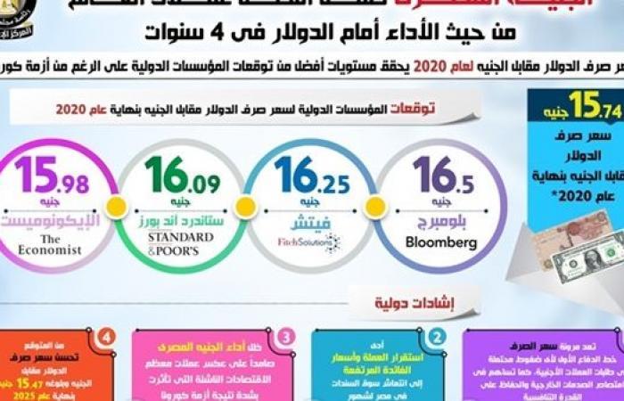 الجنيه المصري ضمن أفضل عملات العالم من حيث الأداء في 4 سنوات (انفوجراف)