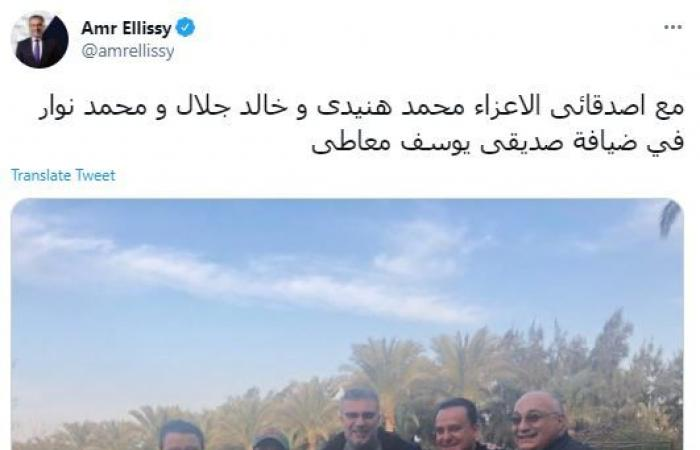 محمد هنيدي وخالد جلال ومحمد نوار فى ضيافة يوسف معاطى
