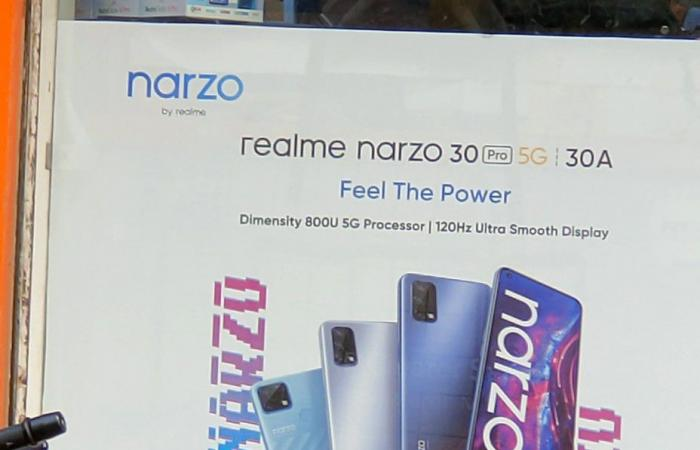 ملصق إعلاني يكشف عن بعض من مواصفات هاتف Realme Narzo 30 Pro