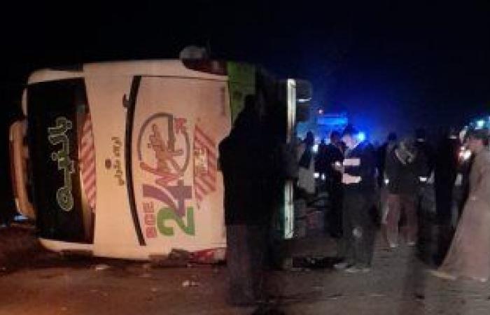حادث طريق أبوسمبل.. مصرع 4 وإصابة 46 بينهم 9 أطفال.. إنفوجراف