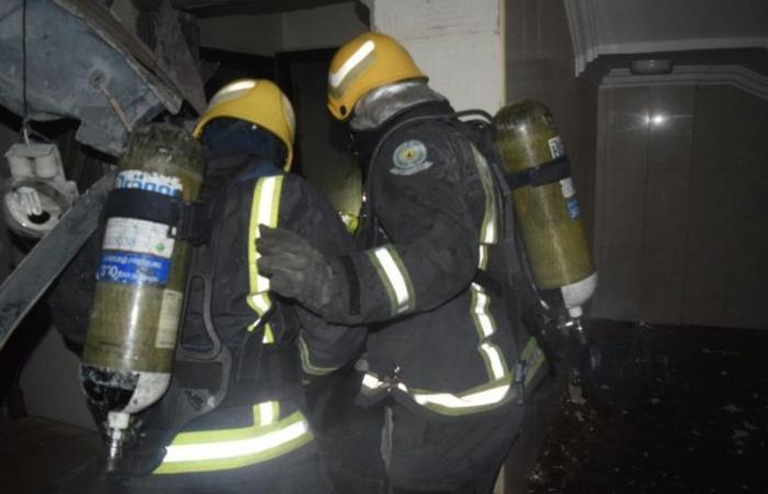 إصابتان في حادث تسرب غاز بشقة في الرياض