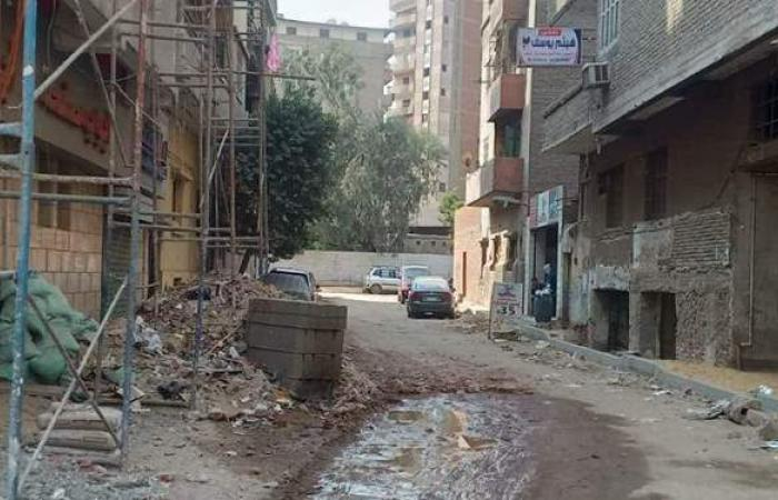 رفع كفاءة النظافة بشارعي خوفو والصناديلي بالجيزة | صور