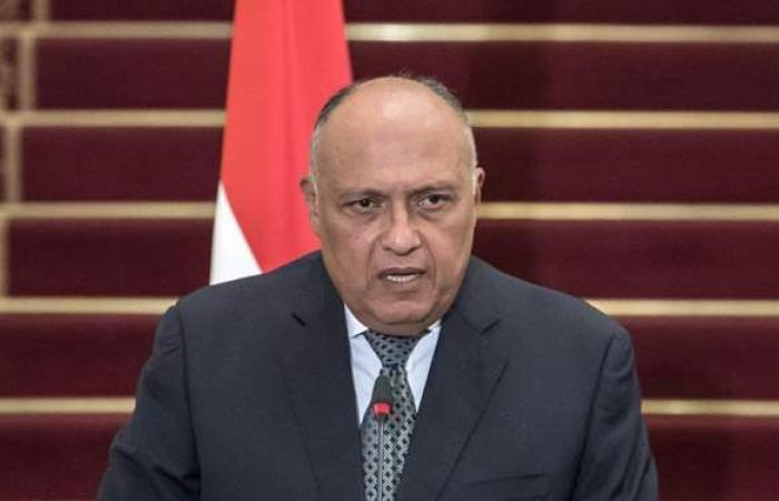 سامح شكري يستقبل وزير الخارجية المجري بيتر سيارتو