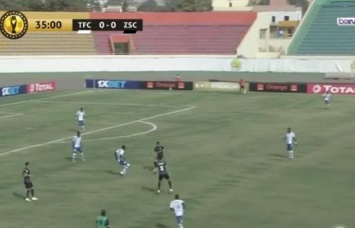 التعادل السلبي يحسم الشوط الأول بين الزمالك وتونجيث في دوري أبطال إفريقيا