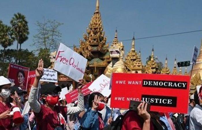 تجدد التظاهرات في ميانمار احتجاجا على استيلاء الجيش على السلطة