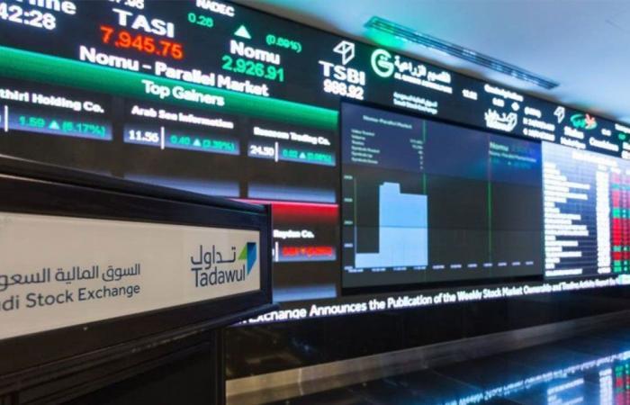 أسماء الشركات الصاعدة والهابطة في تعاملات سوق الأسهم السعودية