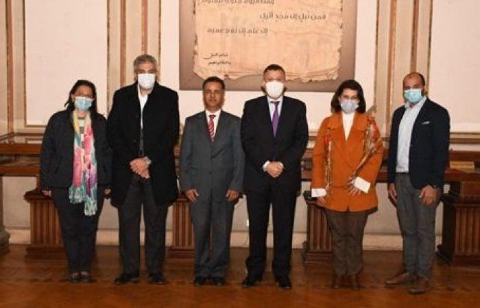 رئيس جامعة عين شمس يستقبل الملحق الثقافي والأكاديمي بسفارة ليبيا