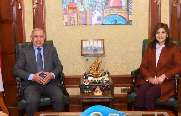 وزيرة الهجرة تستقبل رئيس الأكاديمية العربية للعلوم والتكنولوجيا والنقل البحري