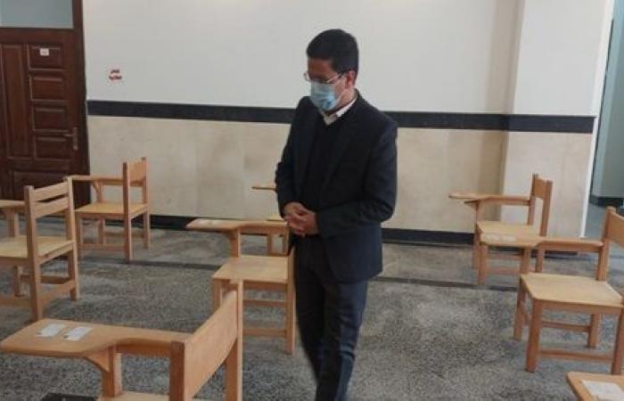 """""""الجيزاوى"""" يتفقد استعدادات كليات جامعة بنها لامتحانات الفصل الدراسى الأول.. صور"""