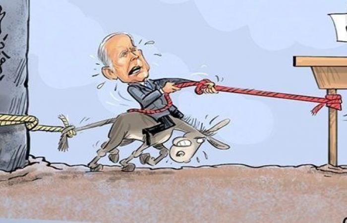 وكالة إيرانية مقربة من الحرس الثوري تجسد بايدن فوق حمار .. ماذا تقصد؟