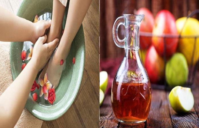 5 فوائد لنقع القدمين في خل التفاح لمدة 15 دقيقة يوميا