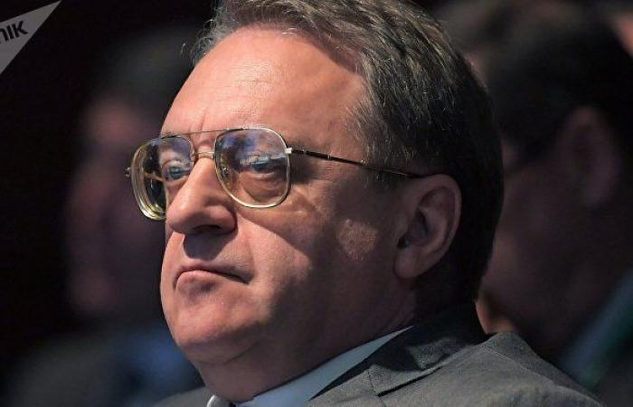"""بوغدانوف يستقبل ممثلي حركة """"سيف الإسلام القذافي"""" الليبية"""