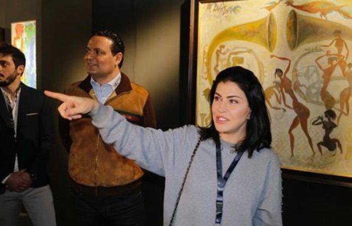 جومانا مراد تفتتح معرض مصر الدولي للفنون وتشارك بـ45 لوحة
