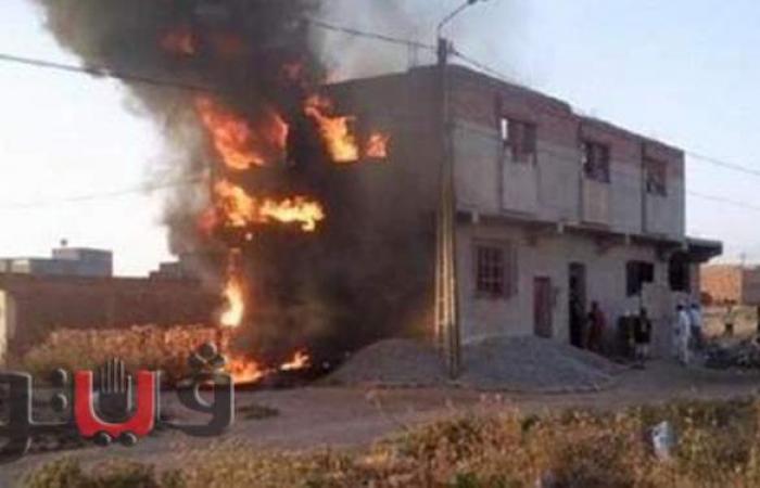 إصابة 3 من أسرة واحدة في حريق بمخبز بلدي في ببني سويف