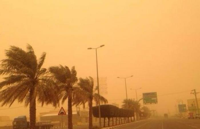 غبار متوقع اليوم على 9 مناطق