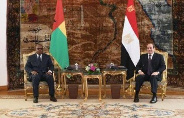 السيسي وإمبالو يتعهدان بتعزيز التعاون بين مصر وغينيا بيساو - تقرير