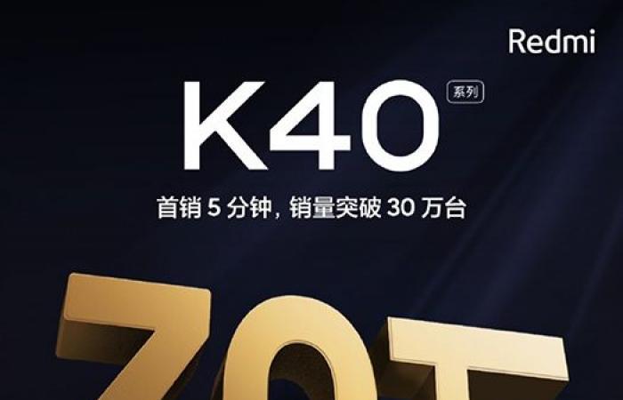 شاومي تسجل مبيعات 300000 وحدة من سلسلة Redmi K40 خلال 5 دقائق