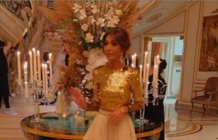 """فرحة أم العريس.. الإعلامية بسمة وهبة فى حفل زفاف ابنها """"فيديو وصور"""""""