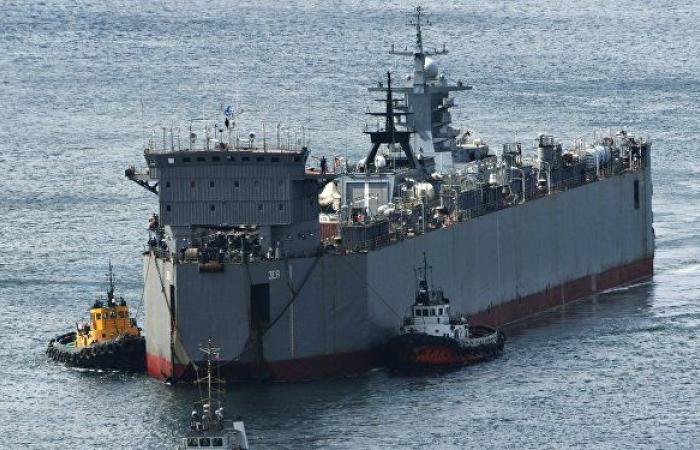 السفن الروسية تجري تدريبات في بحر اليابان